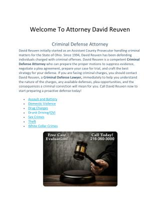 Welcome To Attorney David Reuven