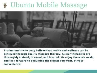 Best Place to Get a Massage - Ubuntu Mobile Massage