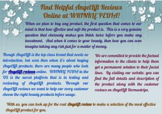 Online Helpful Angellift Reviews