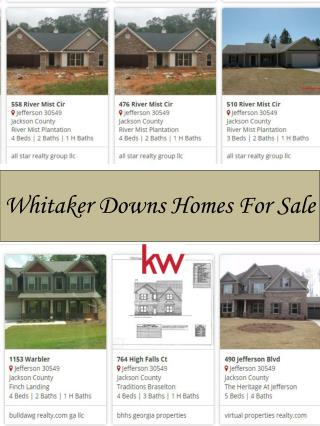Whitaker Downs Homes For Sale