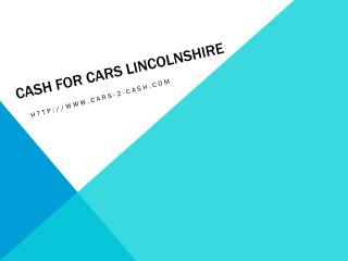 Cash For Cars Lincolnshire