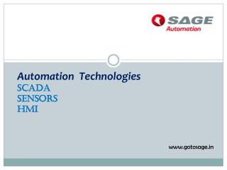 Automation  Technologies courses|SAGE Automation