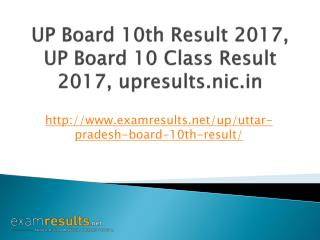 UP Board 10th Result 2017, UP Board 10 Class Result 2017