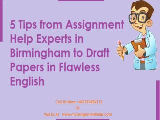 5 Tips from Assignment Help Experts to Draft A Paper in Flawless English