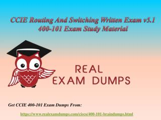 Download Cisco 400-101 Exam Dumps - CCIE 400-101 Dumps Questions RealExamDumps
