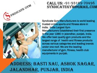 Best Gym & Fitness Equipments Dealers and Suppliers in Delhi