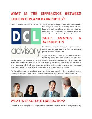 What Is The Difference Between Liquidation And Bankruptcy?