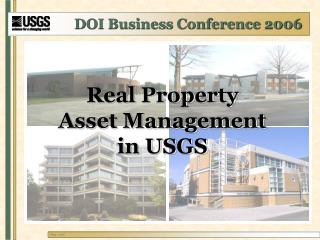 Real Property Asset Management in USGS