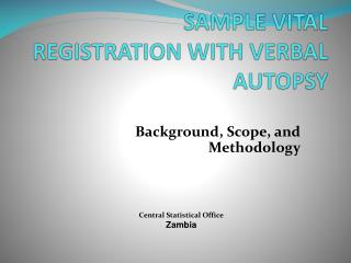 SAMPLE VITAL REGISTRATION WITH VERBAL AUTOPSY