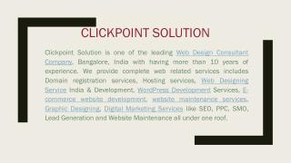 Website Designing Services, Bangalore, India | ClickPoint Solution