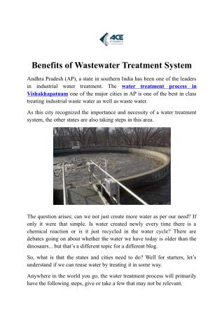 Water Treatment Plant Service for Safe Drinking Water in Visakhapatnam
