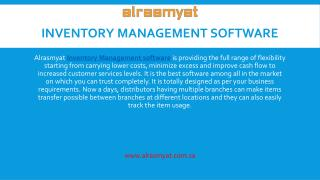 Make better performance of your warehouse with Alrasmyat Inventory Management Software