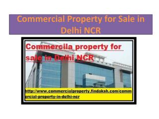 Commercial Property for Sale in Delhi NCR - Findaksh