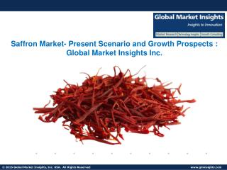 Saffron Market Analysis, Industrial Forecast and Trends from 2017 to 2024
