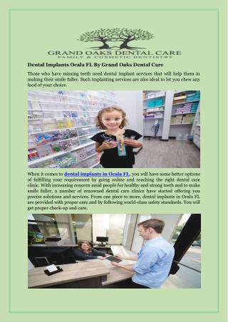Dental Implants Ocala FL By Grand Oaks Dental Care