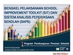 Mengapa perlunya Program Pembangunan Prestasi Sekolah SIP