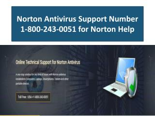 1-800-243-0051 Norton Antivirus Technical Support Number