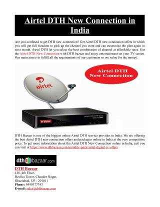 Airtel DTH New Connection in India