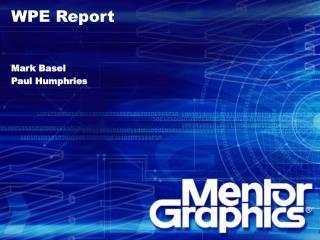 WPE Subcommittee Report