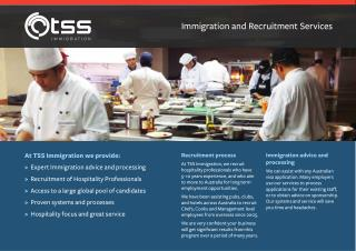 TSS Immigration Hospitality Recruitment Chefs and Cooks
