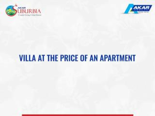 Villa at the price of an apartment.