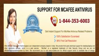 1-844-353-6003 McAfee - Antivirus, Endpoint Security, Firewall, Web, Network Security
