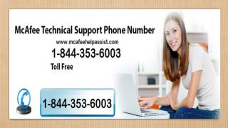 McAfee Customer 1-844-353-6003 Technical Support Phone Number