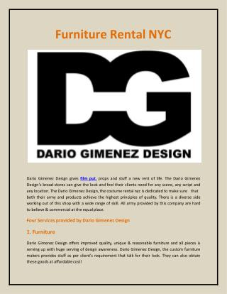 Furniture Rental NYC