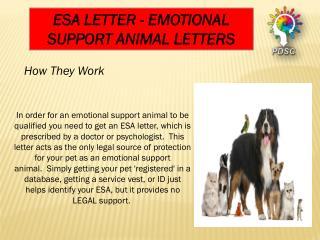 Service animal letter