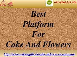 Online Cake and Flowers Delivery in Gurgaon via CakenGifts.in