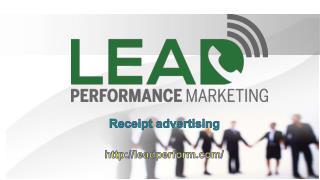 Receipt advertising