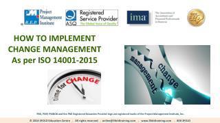 EMS Change Management