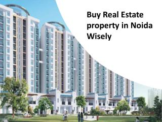 Buy Real Estate property in Noida Wisely