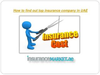 How to find out top insurance company in UAE