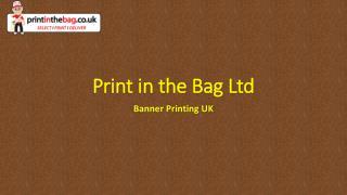 Banner Printing UK