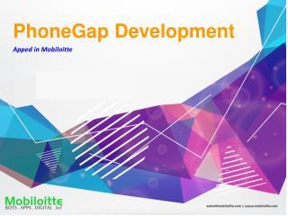 PhoneGap Development Services - Mobiloitte