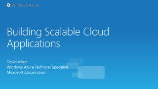 Building Scalable Cloud Applications
