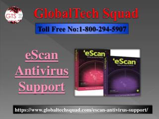 Escan Antivirus Support | Toll Free No. 1-800-294-5907