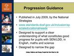 Progression Guidance