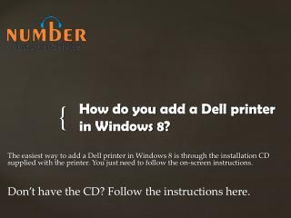 How do you add a Dell printer in Windows 8?