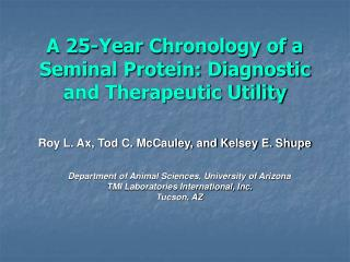 A 25-Year Chronology of a Seminal Protein: Diagnostic and Therapeutic Utility