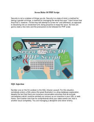Seven Risks Of PHP Script