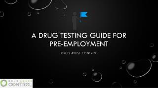 A Drug Testing guide for pre-employment