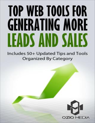 Top Web Tools for Generating More Leads and Sales
