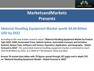 Material Handling Equipment Market worth 44.68 Billion USD by 2022
