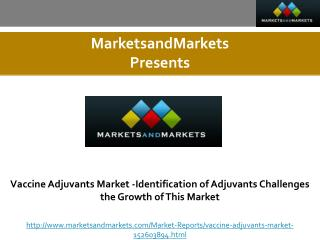 Vaccine Adjuvants Market -Identification of Adjuvants Challenges the Growth of This Market