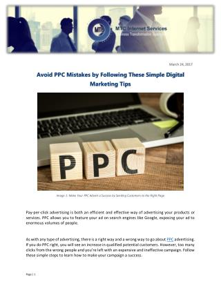Avoid PPC Mistakes by Following These Simple Digital Marketing Tips