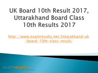 UK Board 10th Result 2017, Uttarakhand Board Class 10th Results 2017