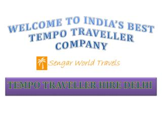 Tempo Traveller On Rent Delhi