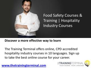 Food Safety Courses & Training | Hospitality Industry Courses